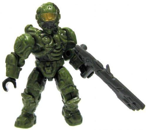 Halo Wars Mega Bloks LOOSE Mini Figure UNSC Green Spartan Operator [Series 8] B00H9TK3LG