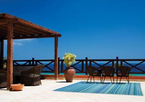 Fab Habitat Cancún - Alfombra, 120 x 180 cm, color turquesa y ...