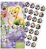 Tinkerbell Great Fairy Rescue 34 Valentines with 35 Glitter Tattoos