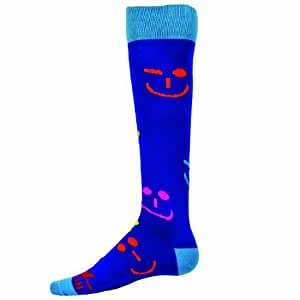Red Lion Emoticon Knee High Sock ( Royal Blue - Medium )