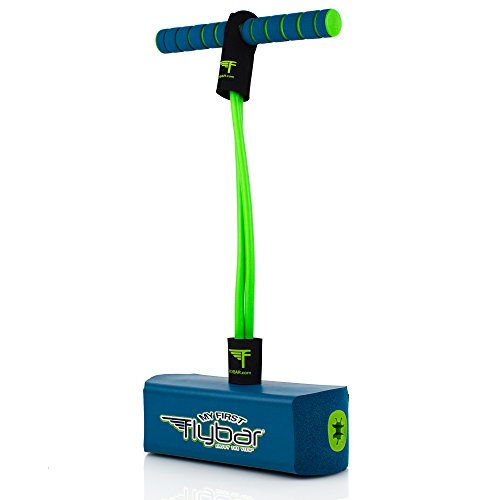 Flybar My First Foam Pogo Jumper for Kids Fun and Safe Pogo Stick for Toddlers, Durable Foam and Bungee Jumper for Ages 3 and up, Supports up to 250lbs (Blue)