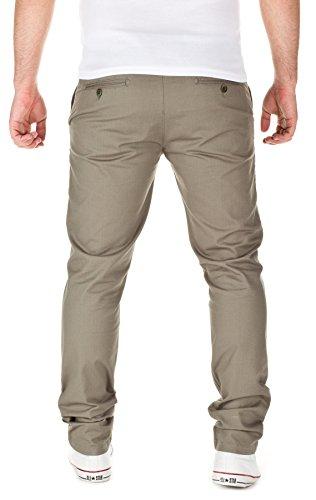pour Homme de foncé0312 Wotega Penta poulevert pied Pantalon de motif Chino avec lichen wOXuTZiPlk