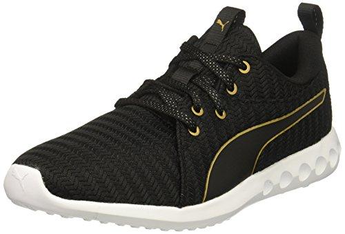 PUMA Women's Carson 2 Wn Sneaker Puma Black-gold