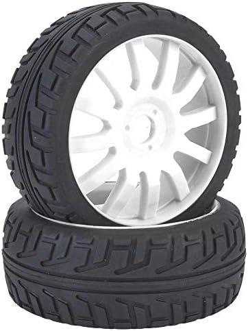 RCタイヤ ホイール&タイヤ 軽量 柔軟性 オフロードレース用 1/8 RCゴムタイヤ RCホイールハブ メッシュホイールカーア
