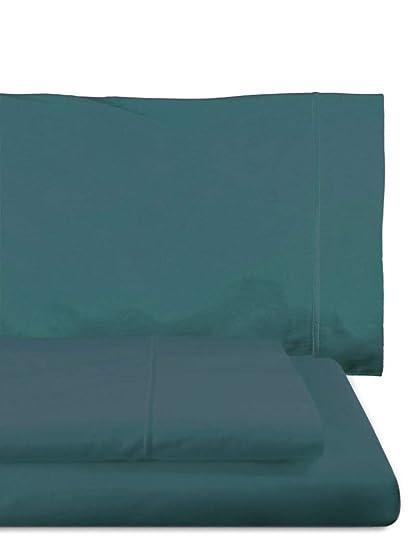 Home Royal - Juego de sábanas compuesto por encimera, 280 x 285 cm, bajera, 280 x 280 cm, 2 fundas para almohada, 45 x 110 cm, color índigo