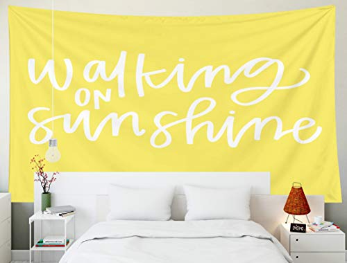 Fullentiart Dorm Tapestry, Wall Hanging Tapestry 80x60inch Walking on Sunshine Decoration Room Birthday Gift Holiday Décor Tapestries