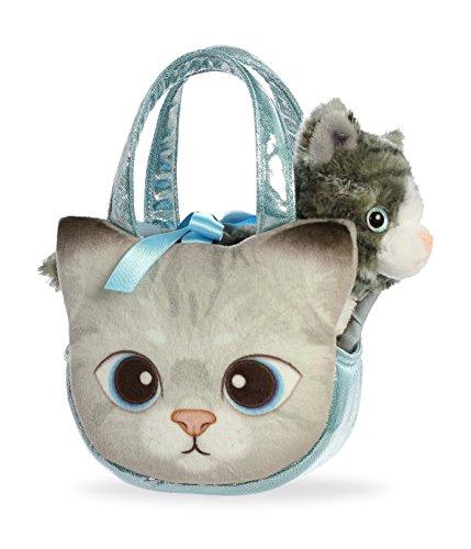 (Aurora World Fancy Pals Purse Pet Carrier Grey Tabby Kitty)