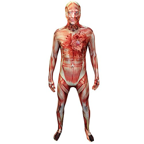 "Second Skin Morphsuit - Beating Heart Muscle Morphsuit Costume - size Xlarge - 5""10-6""1 (176cm-185cm)"