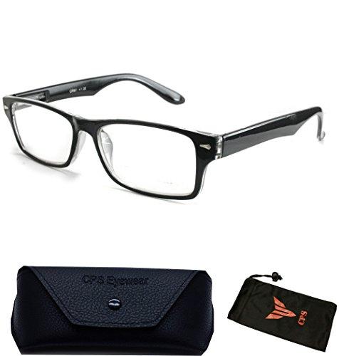 Women Men Designer Fashion Reading Glasses Square Medium Prad Reader Wayfarers - Reading Glasses Discount Designer