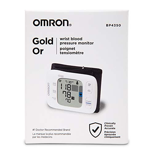 Omron 7 Series Wrist Blood Pressure Monitor; 100-Reading Memory with Heart Zone Guidance and UltraSilent Inflation by Omron
