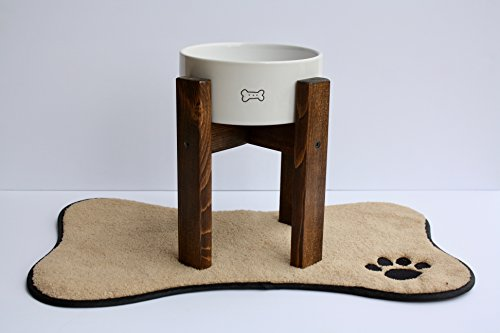 Mid-Century Dog Bowl Stand/Elevated Dog Bowl Stand/Custom Built to Fit YOUR Bowl and Dog