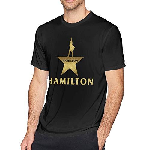 Star Hamilton (Musical Hamilton Star Logo Men's Crewneck Short Sleeve T-Shirts Tees Black)