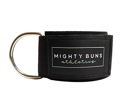 Mighty Buns Ankle Strap for Cable Machine Exercises | Premium Thick Neoprene Padding, Superior Comfort for Heavy Lifts…