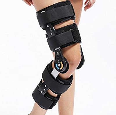 Universal Size Hinged ROM Knee Support Brace Orthosis for Knee Injury Recovery & Relieve Knee Burden