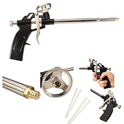 GOCHANGE Foaming Gun Pu Expanding Foam Gun Caulking Gun Metal Body Pro Heavy Duty PU Foam Gun Grade Expanding Spray Application Applicator