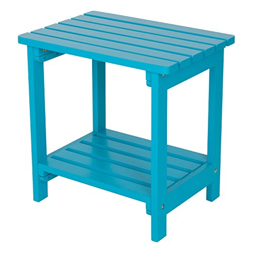 Adirondack End Table Blue (Shine Company Inc. 4104TQ Rectangular Side Table, Turquoise)