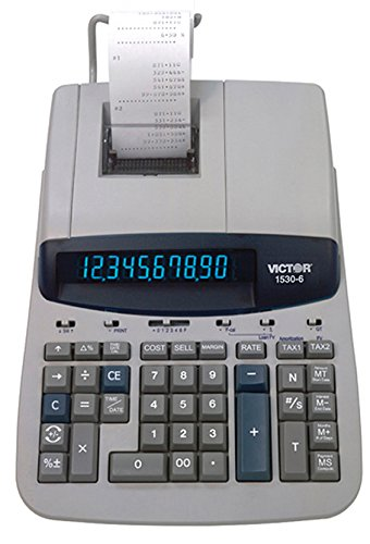 Victor 1530-6 10 Digit Professional Grade Heavy Duty Commercial Printing Calculator with Large Display and Loan Wizard