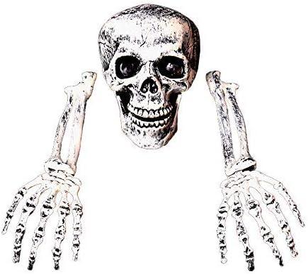 Frmarche Halloween Squelette Cr/âne dos en Plastique Bras T/ête Horreur Enterr/é D/écoration du Gazon Halloween