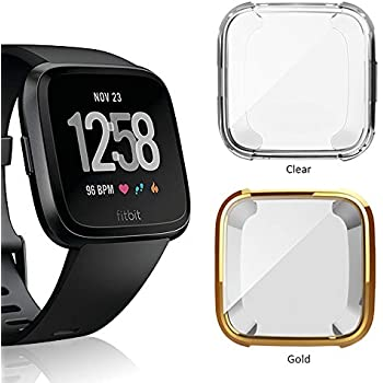 Amazon.com: 8 Pack Screen Protector Case for Fitbit Versa ...
