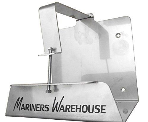 Mariners Warehouse Outboard Motor Tank Stainless Steel Bracket Mount for Yamaha 2 Cycle Oil Reservoir
