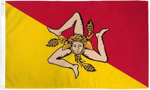 New They can be used indoors or outdoors.3x5 Sicily Flag 3'x