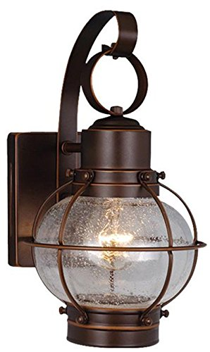 Burnished Bronze Lamp Wall (Vaxcel OW21861BBZ Chatham 7-Inch Outdoor Wall Light, Burnished Bronze)