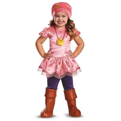 Smee Costume Girl (Peter Pan Disney Jr Jake & the Never Land Pirates Toddler Izzy Deluxe Costume (Toddler Large, 4-6X))