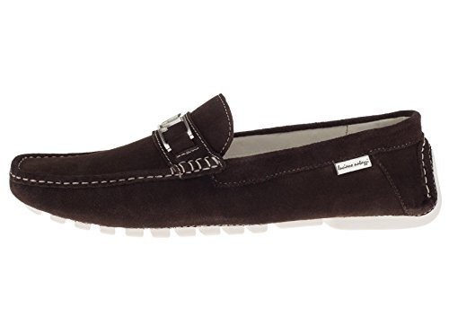 Driving Slip Leather Brown On Loafer Suede LUCIANO Air Original Shoes Mens LN NATAZZI Grant Penny AR7v0v6xn