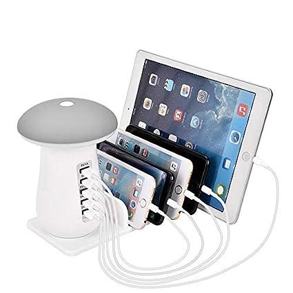 Teepao lámpara de Mesa LED Seta Recargable LED Touch Soporte para ...