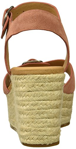Lucky Brand Women's LK-Naveah Espadrille Wedge Sandal, Peanut Oiled Suede, Medium Canyon Rose