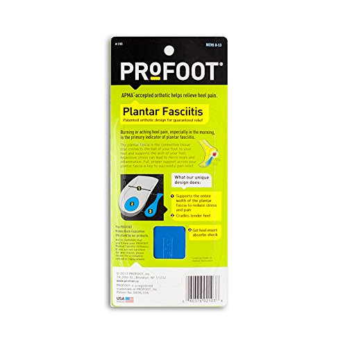 ProFoot Plantar Fasciitis Heel Insert Men's, 1 pair