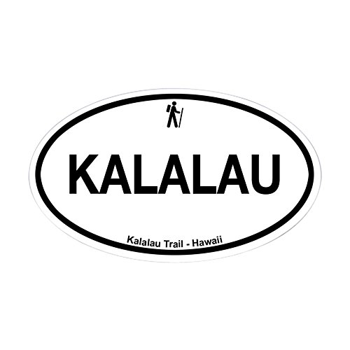 (CafePress Kalalau Trail Oval Bumper Sticker, Euro Oval Car Decal)