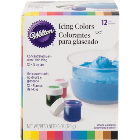 Wilton .5 oz. Icing Colors Assorted Colors 12 ct. 601-5580 by Wilton