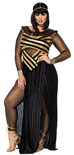 UHC Adult Egyptian Nile Queen Outfit Fancy Dress Womens Halloween Costume, M (8-10)