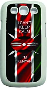 I Can't Keep Calm Im Kenyan Flag White Rubber case with flap - for the Samsung« Galaxy S3 I9300 Case