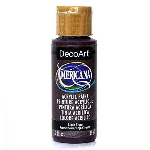 (DecoArt Americana Acrylic Paint, 2-Ounce, Black Plum )