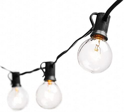 BACKTURE Catena Luminosa Lampadina, 6.8M Stringa di Luci Esterno e Interno con 16 LED Lampadine e 2 Lampadine di Ricambio, Impermeabile illuminazione Giardino per Caffè, Giardino, Gazebo, Terrazzo
