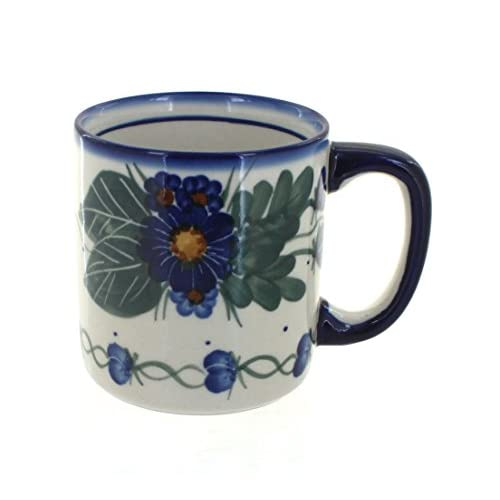 Polish Pottery Forget Me Not Coffee Mug