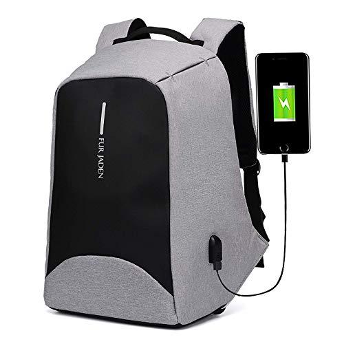 Fur Jaden 20 Ltrs Grey Anti Theft Waterproof  Backpack