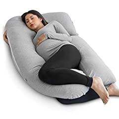 The PharMeDoc U shape body pillow with detachable extension makes for the perfect pregnancy pillow and maternity pillow. An excellent pillow for pregnant women. Full body pillows can benefit anyone. Doesn't have to just be pregnant women. Ort...