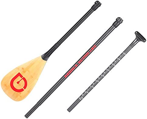 AKUALA(アクアラ)カーボン パドル 3ピース for スタンドアップパドル ボード SUP / 166-197cm お好みのサイズに長さを調節できる