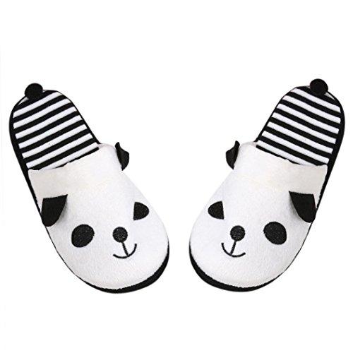 Bel casa feiXIANG® Pantofola scarpe 40 pantofole Bianco donna piano Donna Panda fumetto 36 morbido EaBBRWSXq