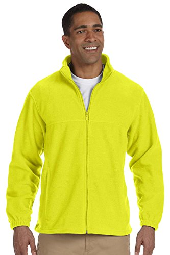 Harriton Mens Full-Zip Fleece (M990) -SAFETY YEL (Harriton Mens Full Zip Fleece)