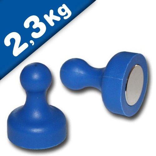 Kegel Pinnwand Magnet groß Ø 19 x 25mm gelb Neodym 10 x Kegelmagnet 2,3kg