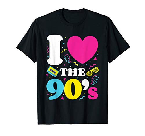 90's 1990's Nineties Costume T-Shirt For Nostalgia ()