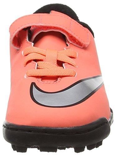 Nike Jr Mercurial Vortex II (V) TF, Zapatillas de Deporte para Niñas, Amarillo / Plateado / Morado (Brght Mng / Mtllc Slvr-Hypr Trq), 31 1/2 EU