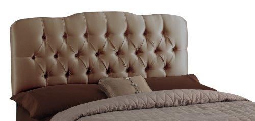Skyline Furniture Surrey Queen Shantung-Upholstered Tufted Headboard, Khaki