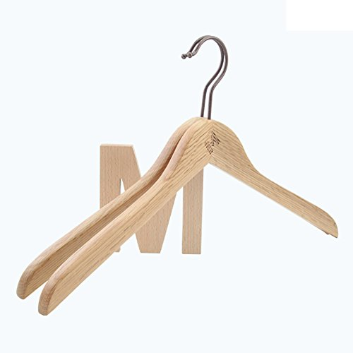 - SE7VEN Vintage oak wood coat hanger Men's extra long deluxe non-slip storage rack No trace of multi-functional clothing prop-A