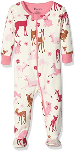 Hatley Girls Bunnies Footed Coverall