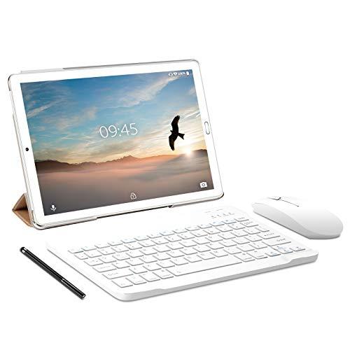 Tablet 10.0 Pulgadas YESTEL Android 10.0 Tablets con 4GB RAM + 64GB ROM - /WiFi | Bluetooth | GPS, 8000mAH, con Ratón | Teclado y Cubierta-Dorado a buen precio